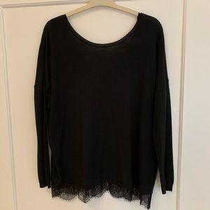 Joie | Oversized Lace Trim Sweater